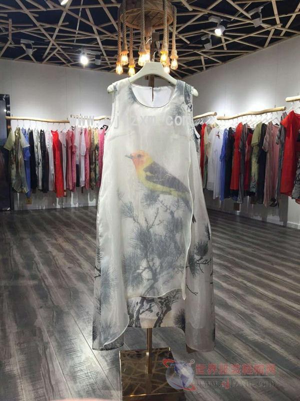 翥牌女装2017夏新款品牌折扣连衣裙走份批发 加盟店货源