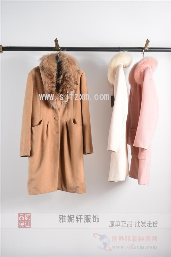 今日主播国际女装折扣批发 17新款欧美时尚修身大衣尾货走份