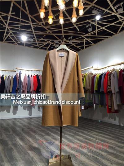 朴朵朵双面尼大衣折扣女装批发小商品市场