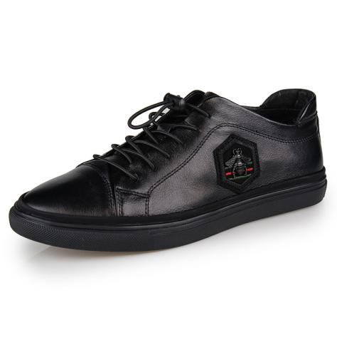廣東皮鞋OEM貼牌加工 杰華仕休閑鞋F1277 皮鞋代工 貼牌加工