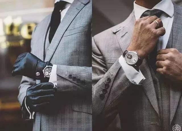 穿西装的男人一定要懂得适当的露,才会更有气质