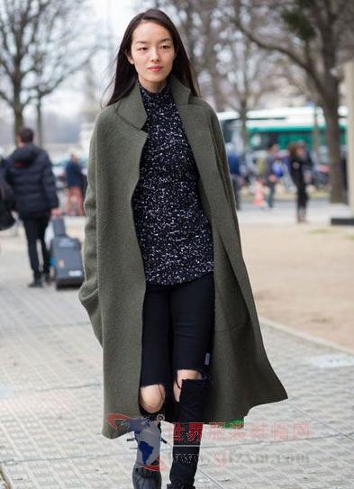 冬天外套里面穿什么 毛衣 紧身裤经典好看-世界