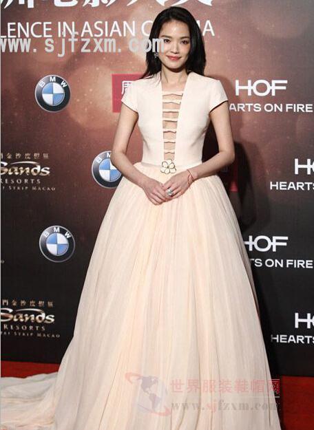 第十届亚洲电影大奖红毯舰队获视频高圆圆依舒淇影后铁甲图片
