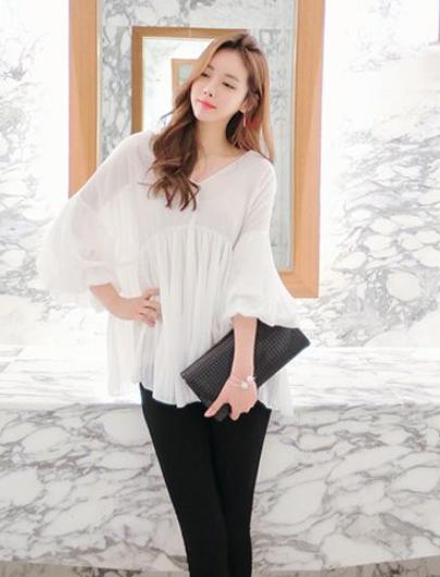 韩版女装雪纺衫 穿的好也可以迷倒仲基欧巴