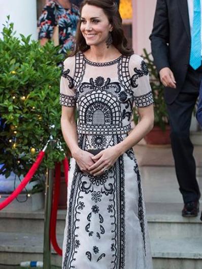 凯特王妃的民俗裙装美呆了