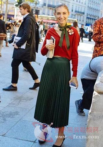 秋季服装搭配  女士半身长裙必备