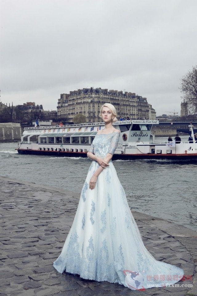 章元一为娜莎诺巴黎拍摄2016新品大片