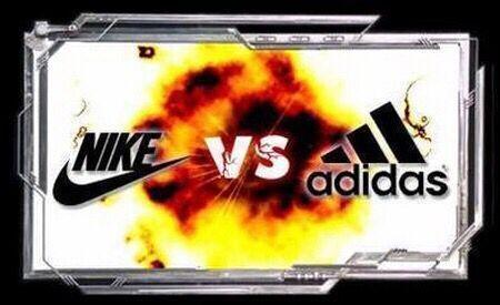"""阿迪达斯与耐克之间的鞋子""""战争"""""""