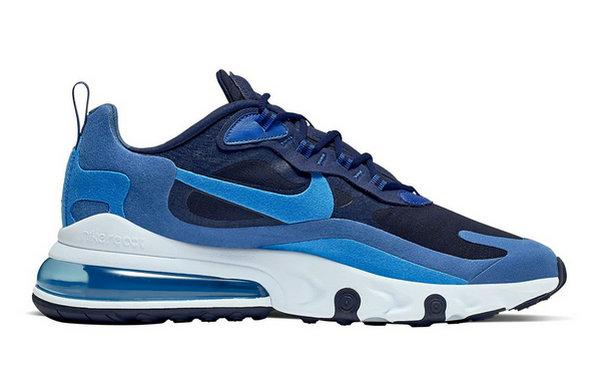 New 2019 Nike Air Max 270 React Half palm Cushion Running Shoes Black White Grey