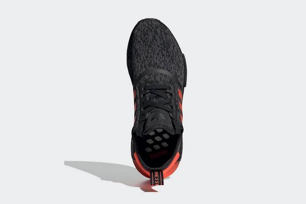 nmd adidas black and orange