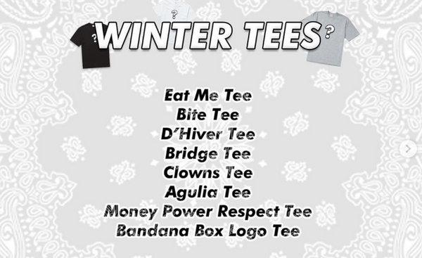 美潮 Supreme 2019 冬季T恤系列本周即将发售,8 款诱人设计