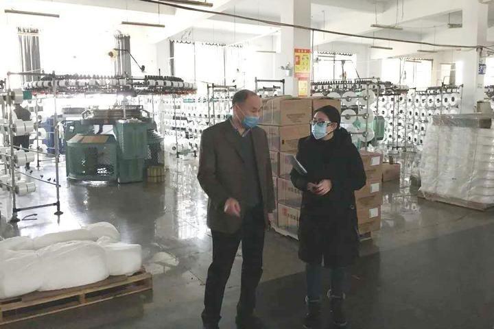 落实处!绍兴市柯桥区行政审批局助企指导员全力协助企业复工复产