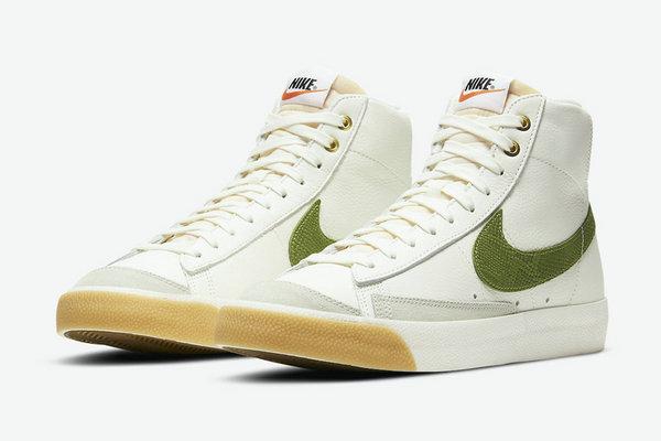 绿色蛇纹 Nike Blazer Mid'77 鞋款释出,人气鞋型