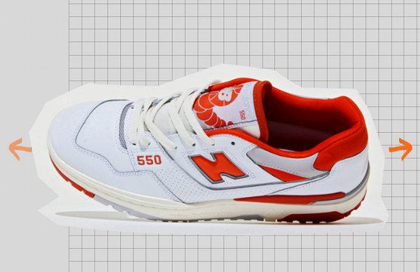 新百倫 x size? 全新聯名 550 紅白鞋款發布,經典氣質