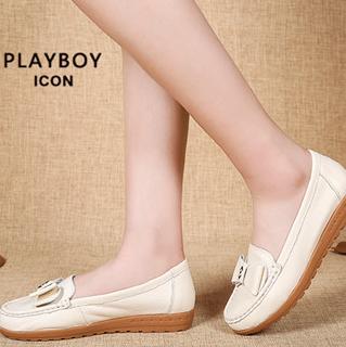 花花公子女士单鞋皮鞋