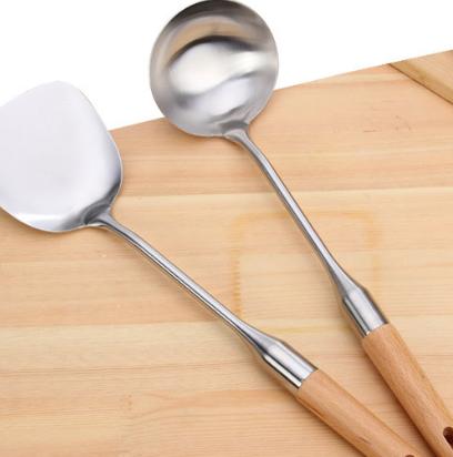 防烫手柄不锈钢厨具烹饪炊具炒菜铲圆粥勺